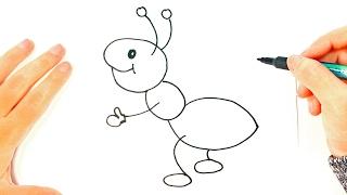 Cómo dibujar una Hormiga paso a paso | Dibujo fácil de Hormiga