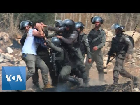Palestinians Protesting Jewish Settlements Clash With Israeli Forces In West Bank
