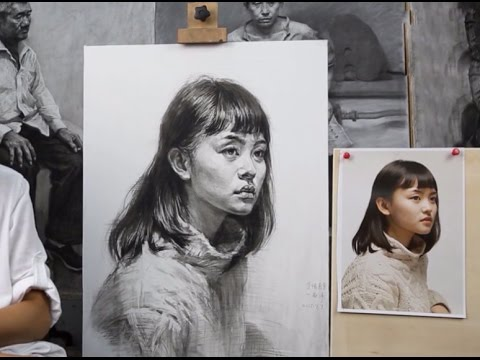 How to draw portrait of girl pencil drawing fine art academy