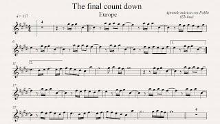 THE FINAL COUNTDOWN: Eb Inst (saxo alto, saxo barítono...) (partitura con playback)