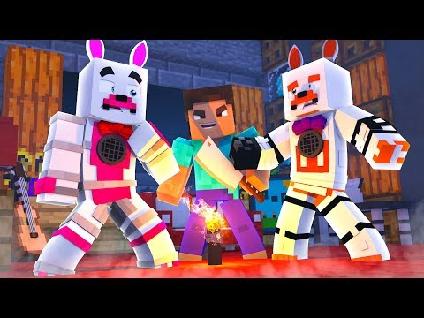 Funtime Foxy And Lolbit Play Murder Mystery (Minecraft Fnaf Roleplay Adventure)
