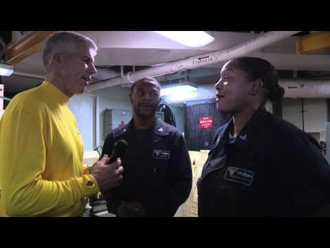 Capt. Thomas Interviews a Vinson Sailor, Part 1