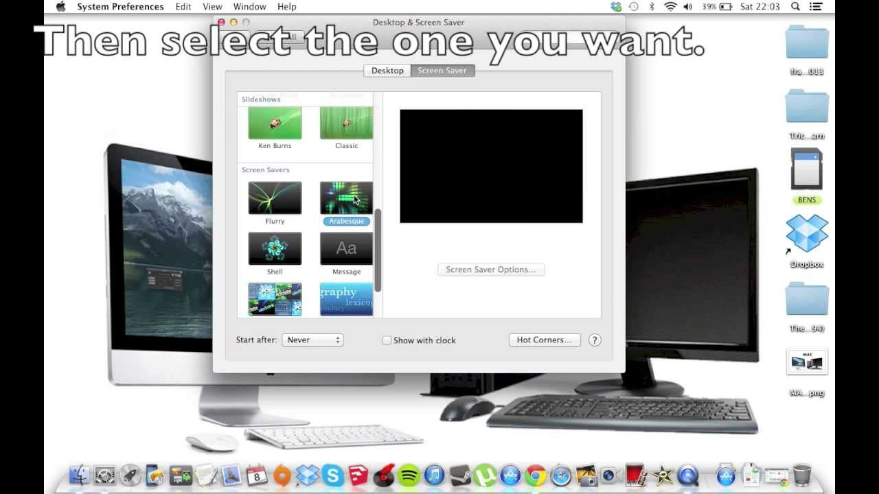 How to change your screen saver on your Macbook - YouTube