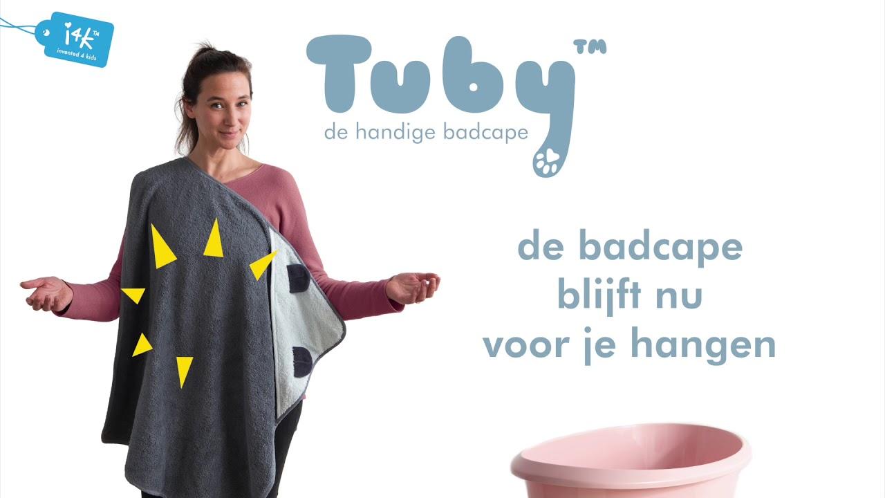 41e184b79e4 Invented4Kids Tuby Towel handige schouder-badcape - Beige Chimpansee