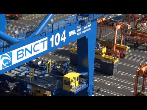 new containerterminal in Busan - South Korea