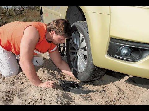 Как вытащить машину из песка