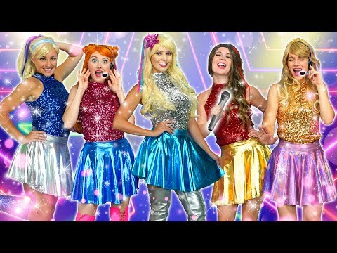 POP STARS DISNEY PRINCESSES POP  SING AND DANCE Elsa Anna Belle Cinderella and Aurora