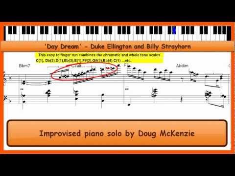 'Day Dream' - (Ellington/Strayhorn)- Jazz piano tutorial