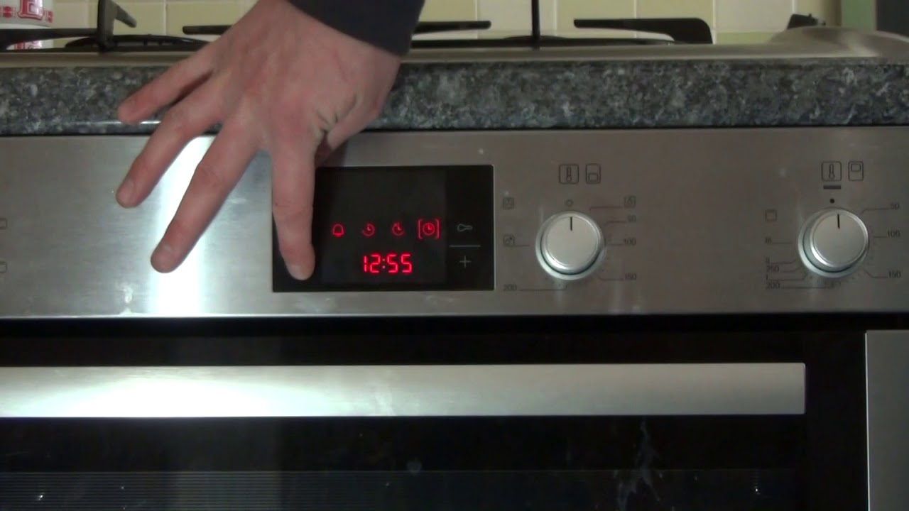 how to set the time on clock of a bosch oven