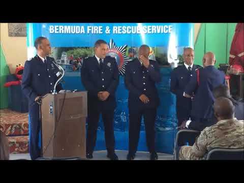 Bermuda Fire & Rescue Service Pinning Ceremony, Oct 11 2017