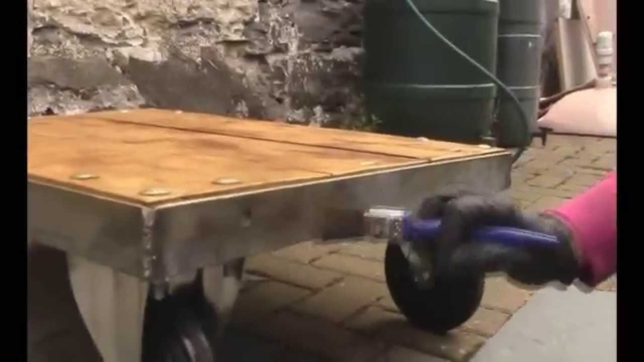 How To Make Industrial Furniture #27: How To Make A Industrial Coffee Table - Easy Welding Project - YouTube