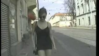 Repeat youtube video Busty girl walking with a black and tight dress