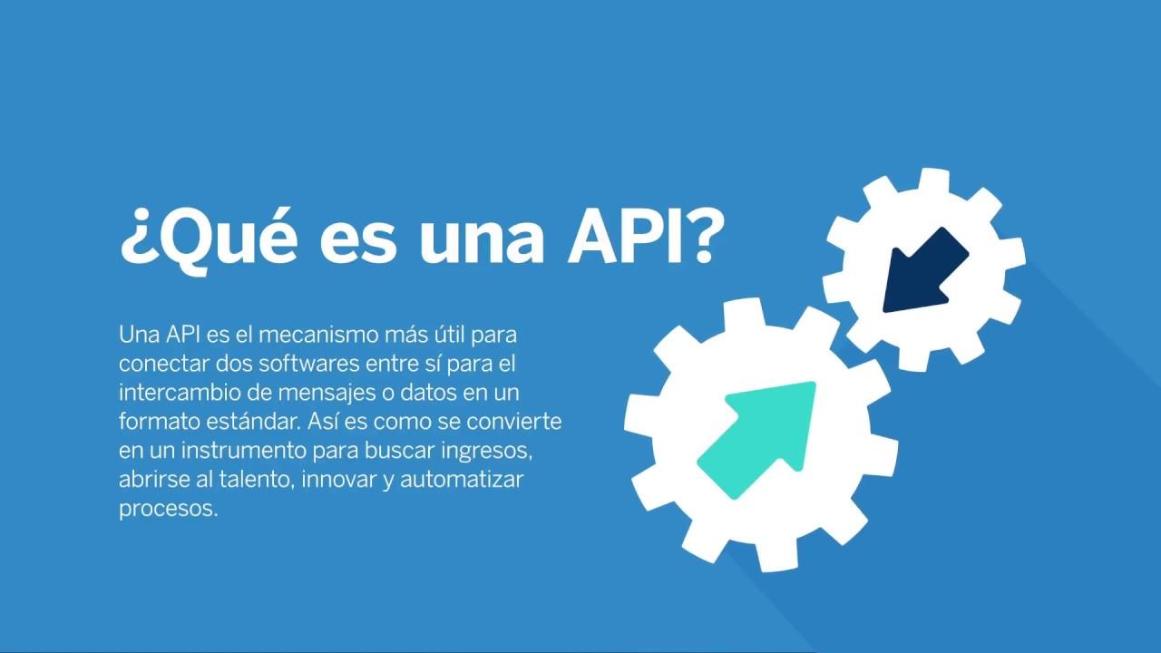 Qué es una API por BBVA API Market - YouTube