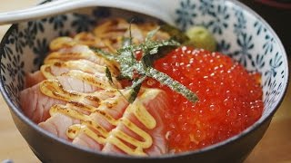 Ikura Salmon don with Mentaiko Mayo - 三文鱼子拌饭