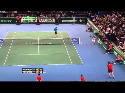 2011 Paris Federer   Monaco QF HIGHLIGHTS
