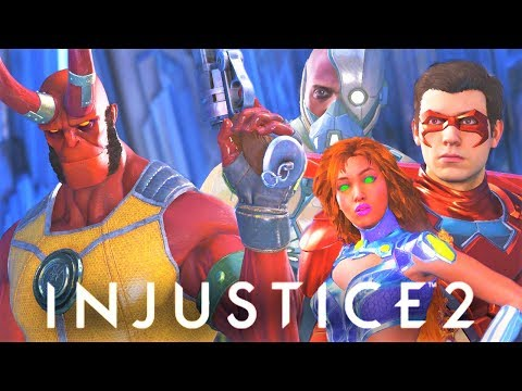 Thumbnail: INJUSTICE 2 - ALL Hellboy vs The Teen Titans Intro Dialogues!