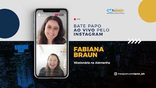 LIVE APMT com Fabiana Braun   Missionária na Alemanha
