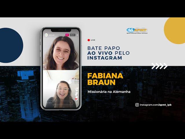 LIVE APMT com Fabiana Braun | Missionária na Alemanha