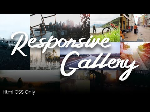 Responsive Image Gallery Using Html CSS