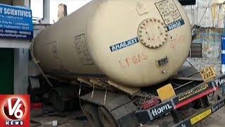Gas Tanker Rams Into Shop At Lankelapalem Junction In Visakhapatnam...
