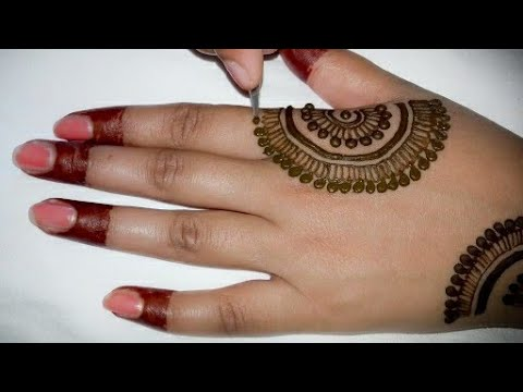 Back mehndi design easy and simple