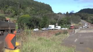 BR - 163 na Linha Derrubada em São José do Cedro não oferece condições de tráfego