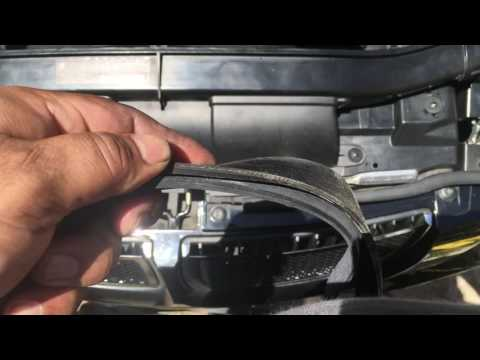 how to replace serpentine belt on a bmw 320d 2010 e90 hd. Black Bedroom Furniture Sets. Home Design Ideas