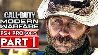 CALL OF DUTY MODERN WARFARE Gameplay Walkthrough Part 1 Campaign [1080p HD PS4] - No Commentary