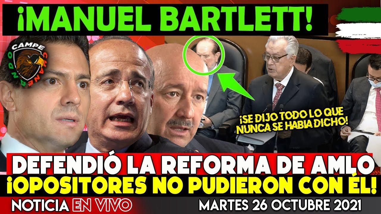 ¡DE ÚLTIMA HORA! BARTLETT DEJÁ CALLADOS AL PRIAN ¡DEFENDIÓ LA REFORMA ELÉCTRICA DE AMLO!
