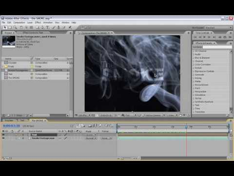 Smoking Letters in AE CS3   Adobe After Effects Video Tutorial