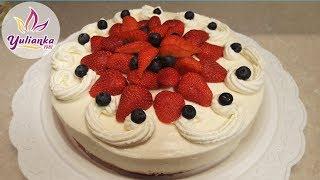 🍰 ЗЕФИРНЫЙ ТОРТ с 🍓КЛУБНИКОЙ🍓и СМЕТАННЫМ КРЕМОМ /Marshmallow cake with strawberries