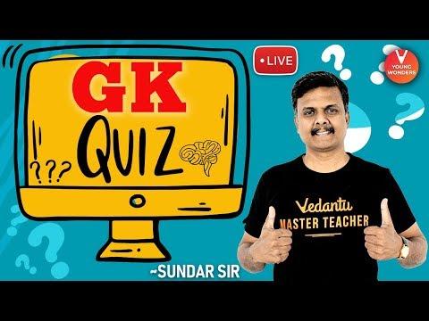 "Download General Knowledge ""🔴LIVE Quiz at 8"" (PART - 2) by Sundar Sir | Play GK Quiz @Vedantu Young Wonders"