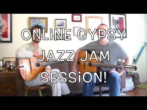 Let's Jam!(Coquette) Online interactive gypsy jazz guitar Jam simulator.