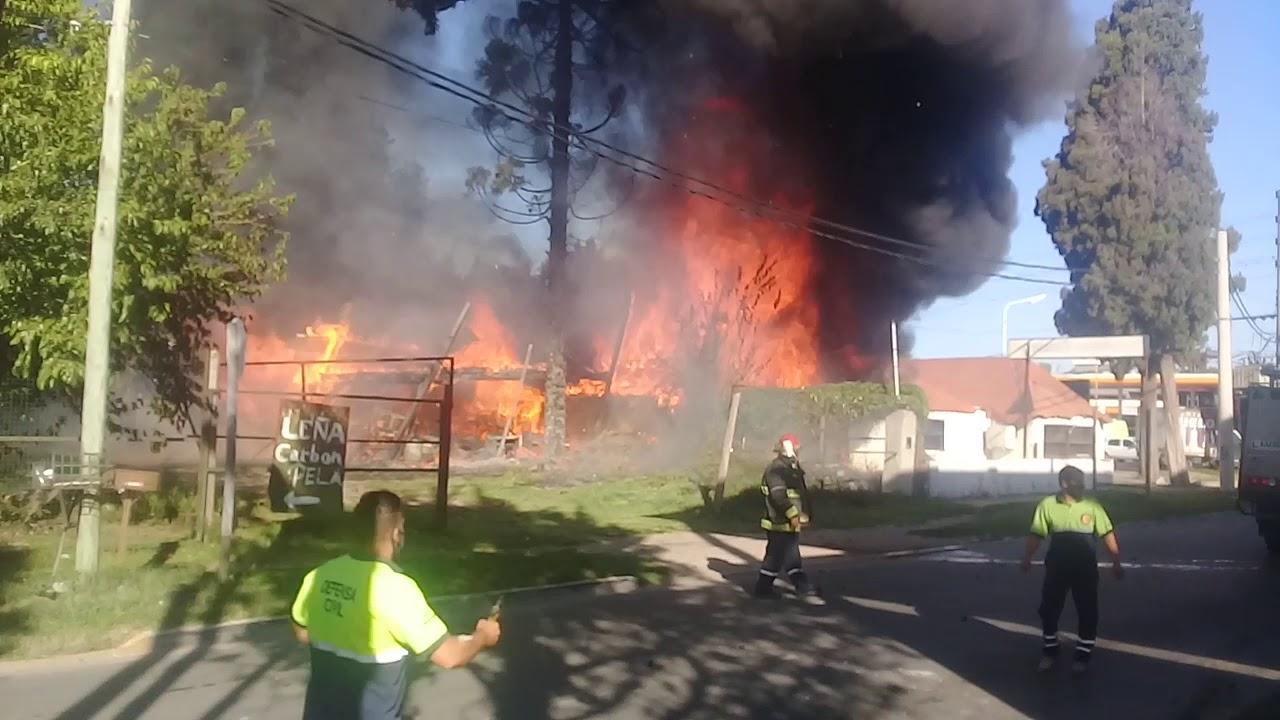 Estremecedor Incendio en #Guido y #Ruta8. #Pilar.