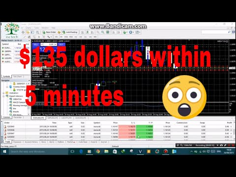 Top Forex  EA 2017. live trading proof.135$ dollar  with in 5 minutes | 2018