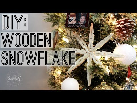 COFFEE TABLE CRAFTS | DIY WOODEN SNOWFLAKE