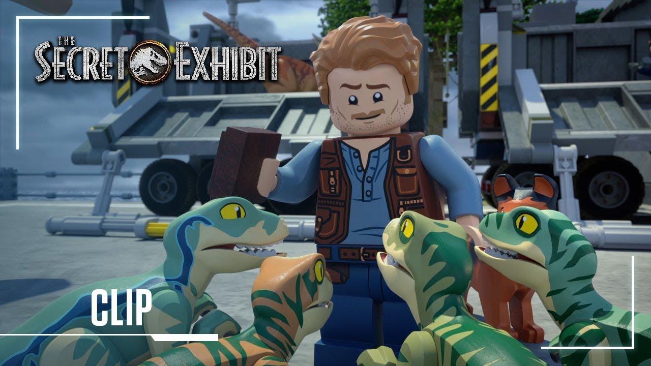 Lego Jurassic World Secret Exhibit Clip Owen Meets Blue For The First Time Jurassic World Youtube