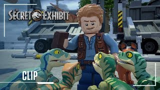 LEGO Jurassic World Secret Exhibit Clip Owen Meets Blue For the First Time Jurassic Worl ...