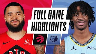 RAPTORS at GRIZZLIES | FULL GAME HIGHLIGHTS | February 8, 2021