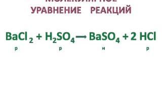 Алгоритм составления уравнения реакций ионного обмена
