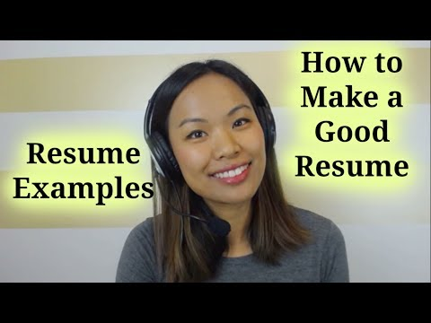 Resume Examples  Template \u2013 How to Make a Good Resume - YouTube
