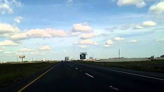 Houston to New Orleans at 2,500 Miles Per Hour Time Lapse Drive Interstate 10
