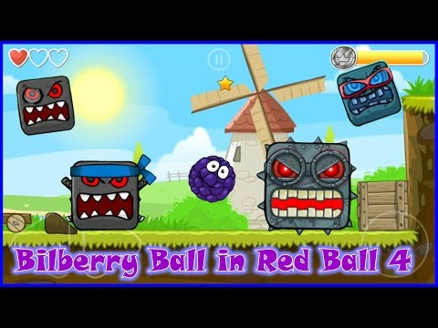 Red Ball 4 complete game walkthrough and solution with Bilberry Ball