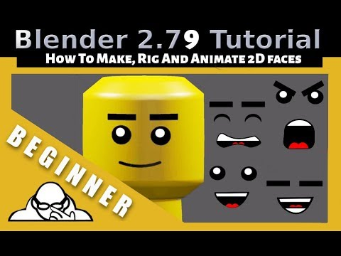 How To Make Animate And Rig 2D Faces In Blender 2 79