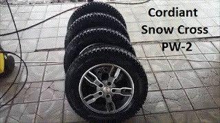 Зимние шины Cordiant Snow Cross PW-2. Литые диски NZ. Отзыв после первого зимнего сезона.