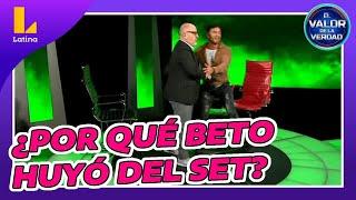 🔥🔥 Beto Ortiz huyó del set en un inesperado final de El Valor de la Verdad de André Castañeda