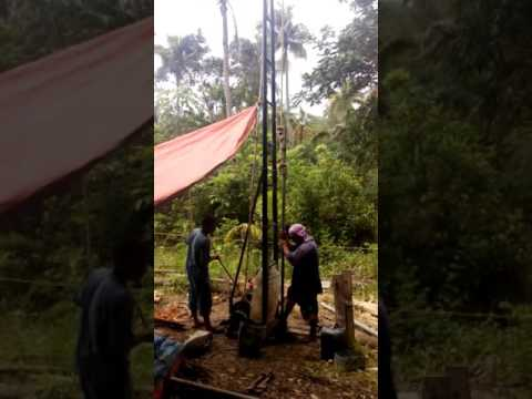Percussion Well Drilling at Lazi, Siquijor