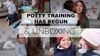 DITL | POTTY TRAINING HAS BEGUN & UNBOXING | BELLES BOUTIQUE
