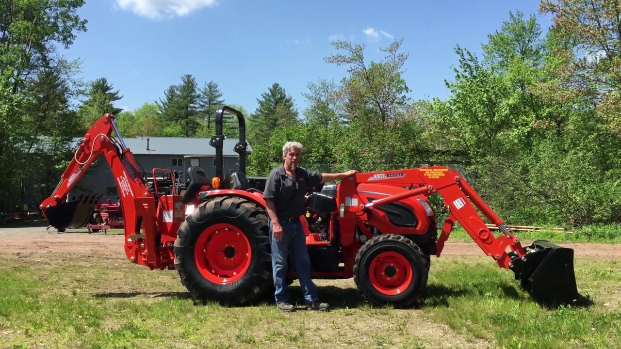 Kioti DK4510 Tractor Loader Backhoe Walkthru & Overview