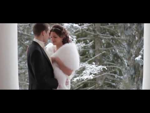 Элегантная свадьба зимой, свадьба в усадьбе Кати и Димы